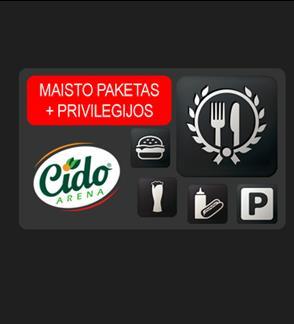 """""""Cido"""" arenos MAISTO PAKETAS + PRIVILEGIJOS"""