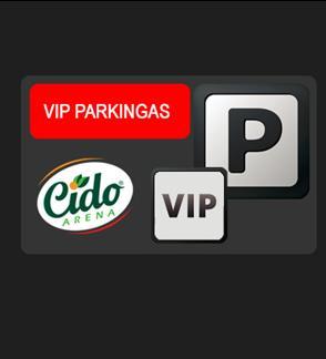 """Krepšinio klubo """"Lietkabelis"""" 2018-2019 metų sezono rungtynių VIP parkingas"""