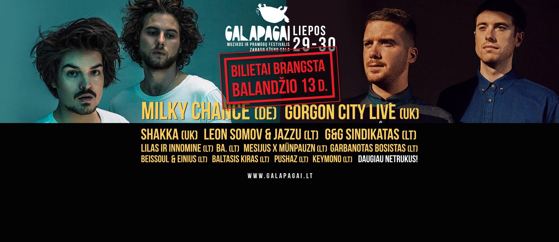 """Festivalis """"Galapagai 2016"""" + kempingas"""