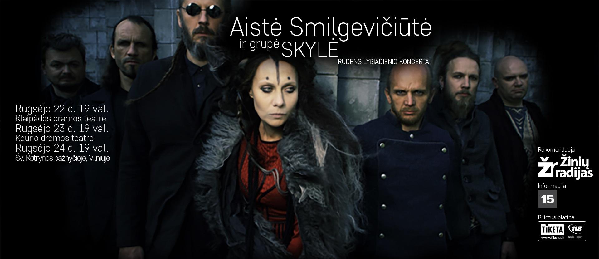 Aistės Smilgevičiūtės ir grupės SKYLĖ rudens lygiadienio koncertas