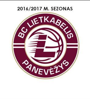 """KK Panevėžio """"Lietkabelis"""" 2016/2017 metų LKL reguliaraus sezono varžybos"""
