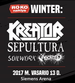 ROKO NAKTYS WINTER: Kreator, Sepultura, Soilwork, Aborted