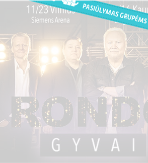 Pasiūlymas grupėms: RONDO GYVAI. Aleksandro Ivanausko – Faros jubiliejinis turas per Lietuvą