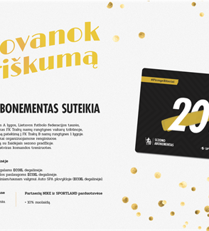 "FK ""Trakai"" 2018 metų sezono abonementas"