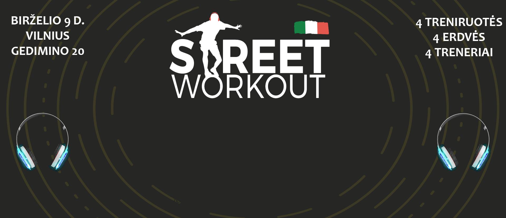"""Muzikinės treniruotės """"Street Workout Vilnius"""""""