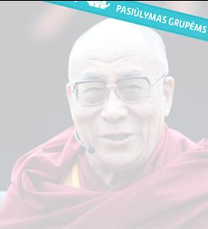 """Pasiūlymas grupėms: Šventenybės Dalai Lamos XIV paskaita """"Laimės menas"""""""