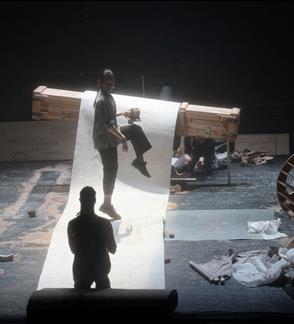 "Baroque theatre machines performance ""Bad Weather"""