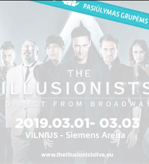 Pasiūlymai grupėms: The Illusionists Live