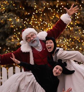 """Šokio spektaklis """"Baltoji lopšinė"""" ir susitikimas su Kalėdų Seneliu"""