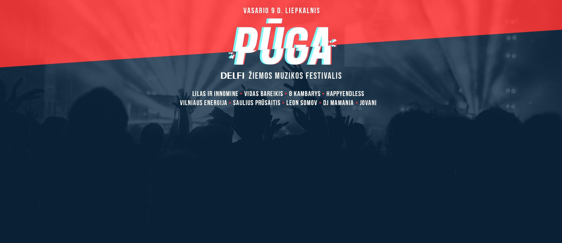 PŪGA. DELFI žiemos muzikos festivalis