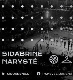 """2019/2020 metų sezono """"Cido"""" arenos """"Sidabrinė"""" narystė"""