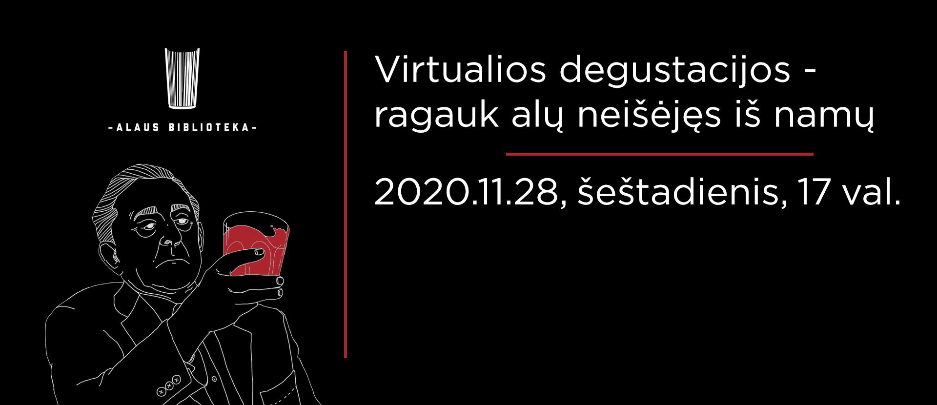 Live: virtuali Alaus Bibliotekos degustacija