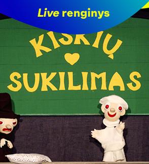 """LIVE: Spektaklis """"Kiškių sukilimas"""""""