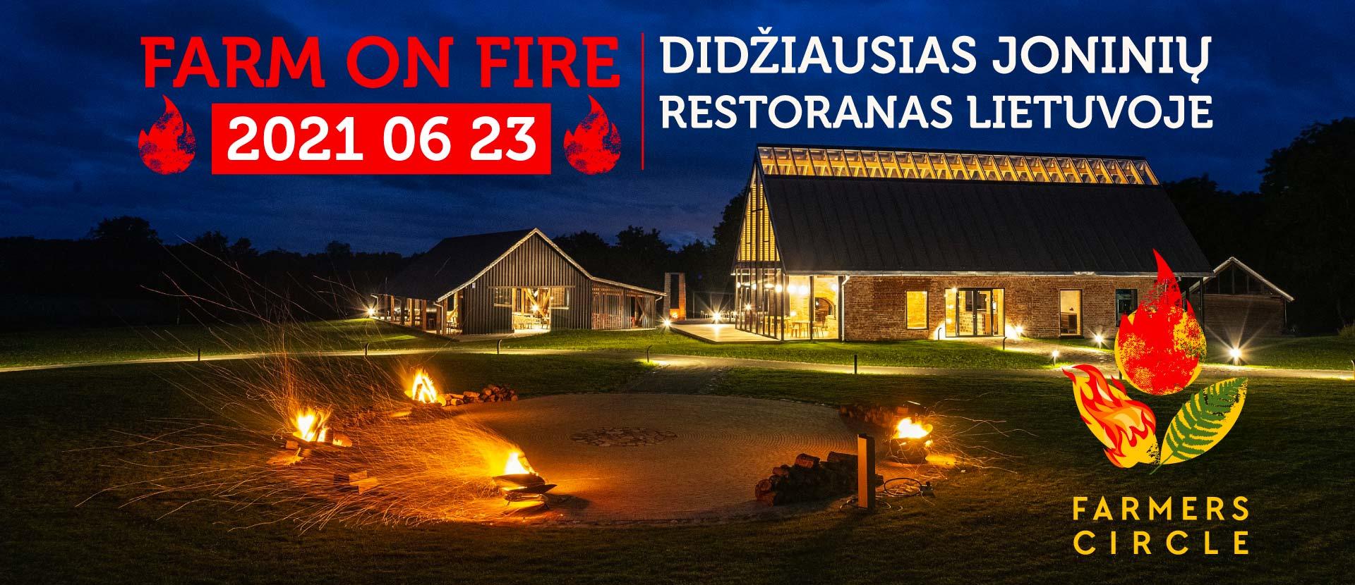"""Didžiausias Joninių restoranas po atviru dangumi """"Farm on Fire"""""""